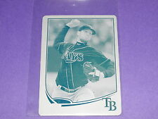 2013 Topps JAMES SHIELDS #133 Mini Cyan Printing Plate True #1/1  RAYS - PADRES