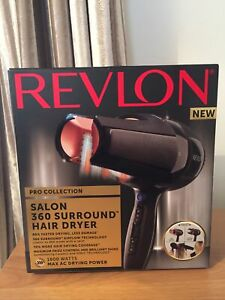 Revlon Salon 360 Surround Hair Dryer Pro Collection 1800 Watts Max AC Drying
