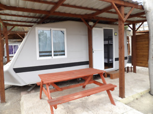 4 Berth caravan in Spain with fishing lake for only £4,950