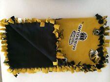 "MISSOURI Handmade Fleece Tie Blanket ~ Baby Dorm Wheelchair Daycare ~ 22"" x 52"""