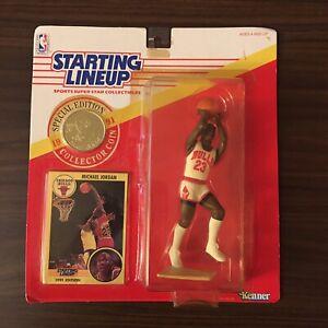 1991 Vtg NIB Michael Jordan Starting Lineup SLU Basketball NBA Card Bulls Nike