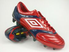 Umbro Mens Rare Stealth Pro -A Hg 887629 Q75 Red Navy Soccer Cleats Boots