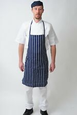 Blue and White Apron Butchers Catering Cooking Professional Chef Aprons Navy