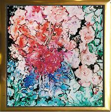 Blumen 1994 Öl/Aquarell, 50 x 50 cm Michaela Krinner 1915-2006,+ Buch publiziert