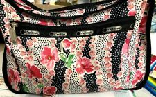 LeSportsac Bag Purse - Red, White, Black, Green with matching cosmetic bag