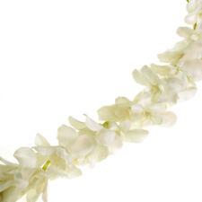 Artificial Plumeria Garland, Cream White, 86-Inch