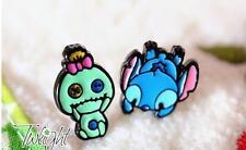 Disney lilo&stitch scrump stitch metal earring ear stud earrings 2PCS earring ne
