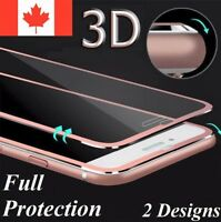 3D Titanium Full Cover Tempered Glass Screen Protector For iPhone 6 6S 7 8 Plus