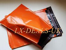 100 orange poly postal packaging mailing bags 10x13 10x14 peal & SEAL 240x330