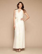 BNWT Monsoon Kirkland Jacquard Cream Silk Bridal Wedding Occasion Dress Size 14