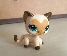 Littlest Pet Shop Cream Tan Brown Short Hair Cat Kitty Heart Face LPS228