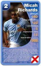 Micah Richards - Manchester City Football Club Specials Top Trumps Card (C461)