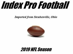 Index Pro Football (2019 NFL Season)