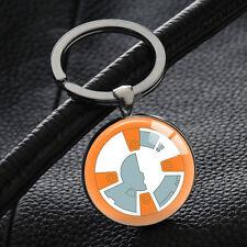 HOT Sphero BB-8 Star Wars Keychains Silver Pendant Key Rings Key Chain Gifts