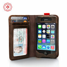 Twelve South BookBook for iPhone 4/4s, Vintage leather iPhone wallet case,Brown