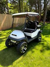Lifted Club Car Precedent 48 Volt Golf Cart - White / Red / Black