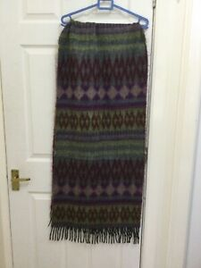 Purple and green  pashmina angora shawl scarf