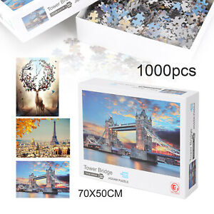 1000 Piece Jigsaw puzzle Set Cardboard For Adults Kids Gift Learning Education