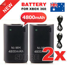 OZ Just for Xbox 360 Rechargeable Battery Pack Wireless Controller USB Cable 2X