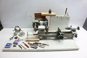 Nice Used Vintage EMCO Unimat Model 3 Mini Lathe Tooling Machinist - Austria USA