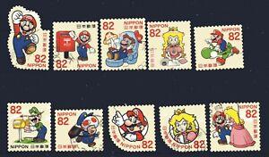 Japan 2017 ¥82 Super Mario, (Sc# 4123a-j), Used
