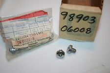 2 NOS YAMAHA EXHAUST GUARD SCREWS 98903-06008 YR1 YAS1C DS6 YR2 G7S L5T AS2C YG5
