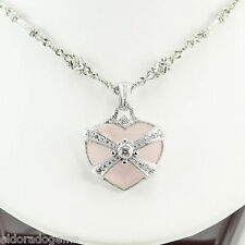 JUDITH RIPKA 1.25 CT. DIAMOND BY THE YARD NECKLACE & REMOVABLE HEART PENDANT 18K