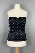 Papaya Occasionwear Uk18 Black & White Polka Dot Bodice Boned Zip Occasion