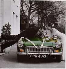 1969 MGB Roadster wedding car May your journey together be fun &.. Wedding card