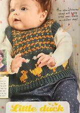 KNITTING PATTERN Baby Fair Isle Duck Tank Top Baby Jumper Rooster PATTERN