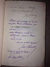JULES CLARETIE / LA LIBRE PAROLE / double envoi de l'auteur / EO 1/10 hollande