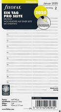1 Seite Kalendarium 20-68246 filofax Kalendereinlage 2020 1 Tag POCKET