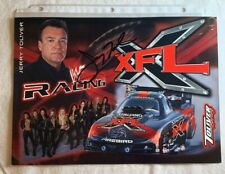 Signed JERRY TOLIVER XFL WF RACING NHRA Photo Card N 703