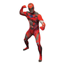 BRAND NEW GENUINE RED Power Ranger Morph-suit Deluxe  SIZE LARGE