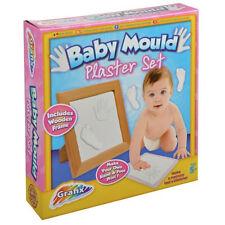 Baby MUFFA INTONACO a Mano Piede Stampa Foto Cornice Set regalo in legno della memoria