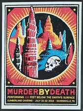 MURDER BY DEATH BAND SIGNED CUMBERLAND CAVERNS  TOUR POSTER W/ COA