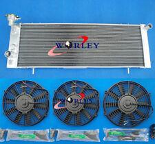 "For Jeep Cherokee XJ 2.5L 4.0L 1991-2001 3 Rows aluminum radiator + 3* 7"" fans"