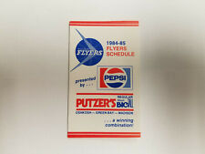 Wisconsin Flyers 1984/85 CBA Basketball Pocket Schedule - Pepsi/Putzer's
