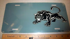 Black Panther on a  Novelty Metal License Plate, made in the USA
