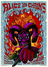 Alice In Chains Poster - San Diego -  Rock Wall Art - Various Sizes #Charity