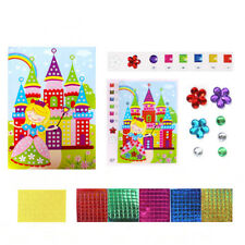 1pc Cartoon Mosaic Stickers Puzzle Glitter Baby Kids DIY Educational Toys