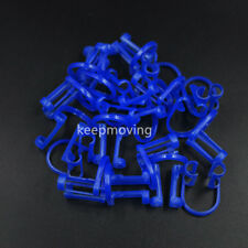 100x Disposable Cotton Roll Holder Blue Clip For Dental Clinic Lab Orthodontic