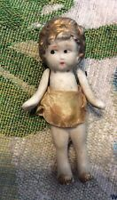 Antique Vintage Japan .? Bisque Doll Frozen Gold Hair