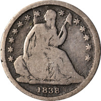 1838-P Seated Liberty Dime - Die Break Great Deals From The Executive Coin Compa