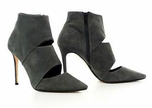 Dune Adrianne Suede Pointed Toe High Stiletto Heel Ankle Shoe Boots Cut Out 40 7