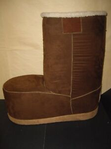 HUGE Winter Suede Boot Footstool/Childs Chair Made in Tennessee VERY CUTE