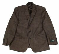 Lauren by Ralph Lauren Mens Sport Coat Brown Size 44 Short Plaid Wool $375 497