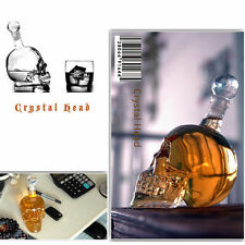 sale Crystal Head Vodka Skull Face Bone Glass Bottle Decanter Empty Bar Line