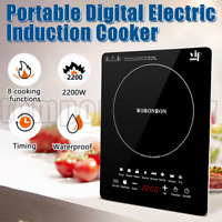 2200W Portable Induction Cooktop Countertop Single Cooker Burner Stove Hot Plate
