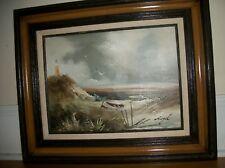 Lighthouse Ocean Seascape Original Painting Framed matted signed